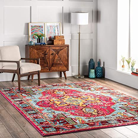 Amazon Com Nuloom Corbett Vintage Boho Area Rug 3 X 5 Multi Furniture Decor