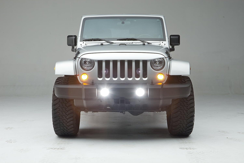 NightHawk Light Brow NightHawk Jeep Brow Bright White fits 2007-2017 Jeep JK PW7 NH1001-PW7