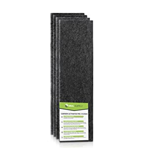 Seal Supply 4 Pack of HRF-H1 Carbon Activated Pre Filters Precut Compatible with Honeywell Models: HPA-050, HPA-060, HPA-150, HPA-160, HHT-055, HHT-155