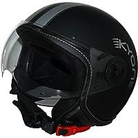 Protectwear Jethelm Motorradhelm im Pilotendesign H730-Streifen - M