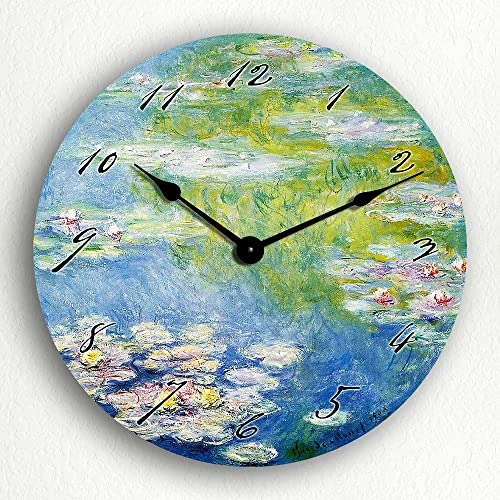 Classical Creations Monet s 1908 Water Lilies 12 Silent Wall Clock
