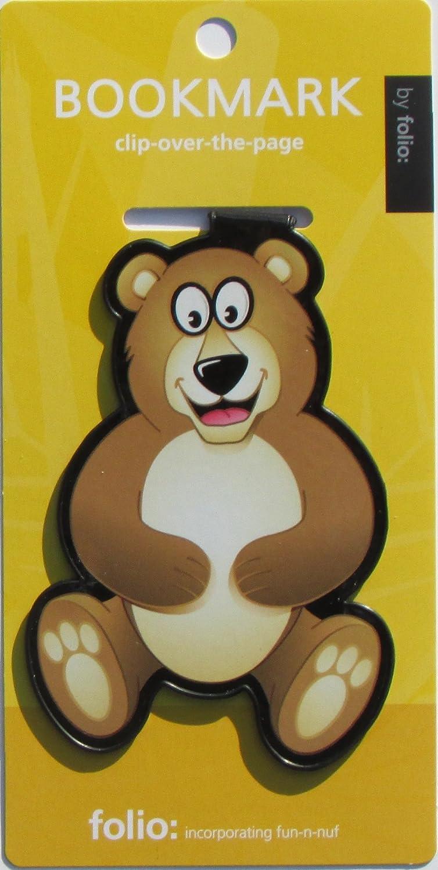 /St/ück Teddy B/är Lesezeichen clip-over-the-page verschiedene Farben 2/