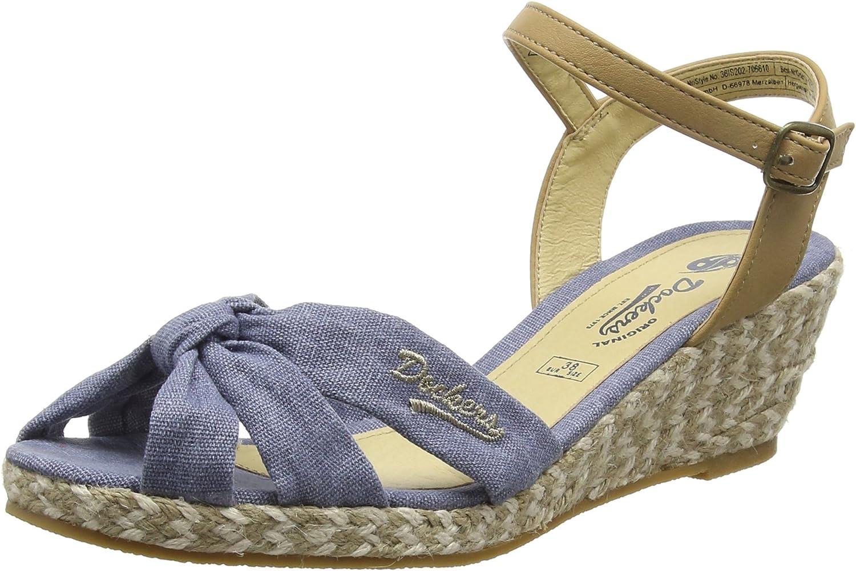 Dockers by Gerli 36IS210-700400 Schuhe Damen Keil Sandalen Pumps Sandaletten