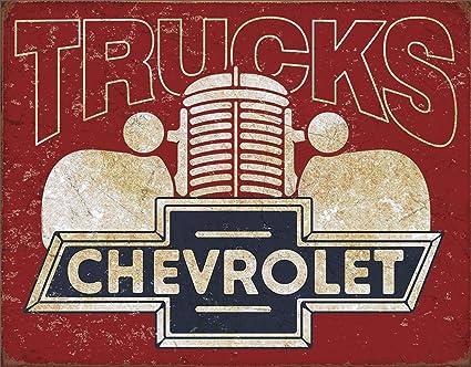 Amazon.com: Lata signos 2197 Chevy camiones 12.5