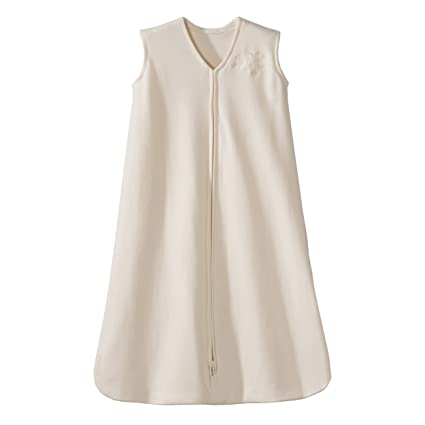 Halo Saco de dormir Wearable Manta de algodón strampel trajes (Cream 6 – 12 meses