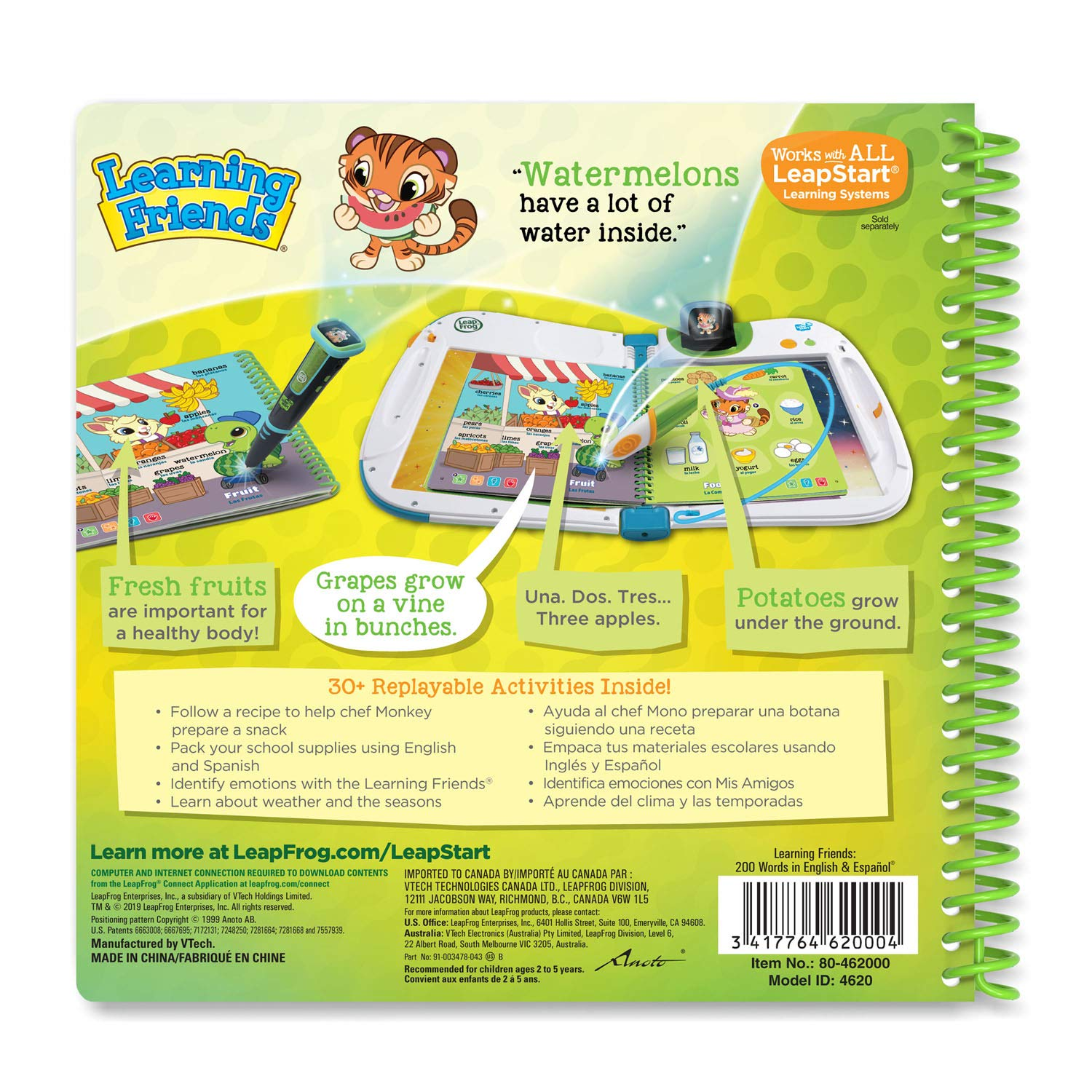 LeapFrog LeapStart Learning Friends: 200 Words in English & Español