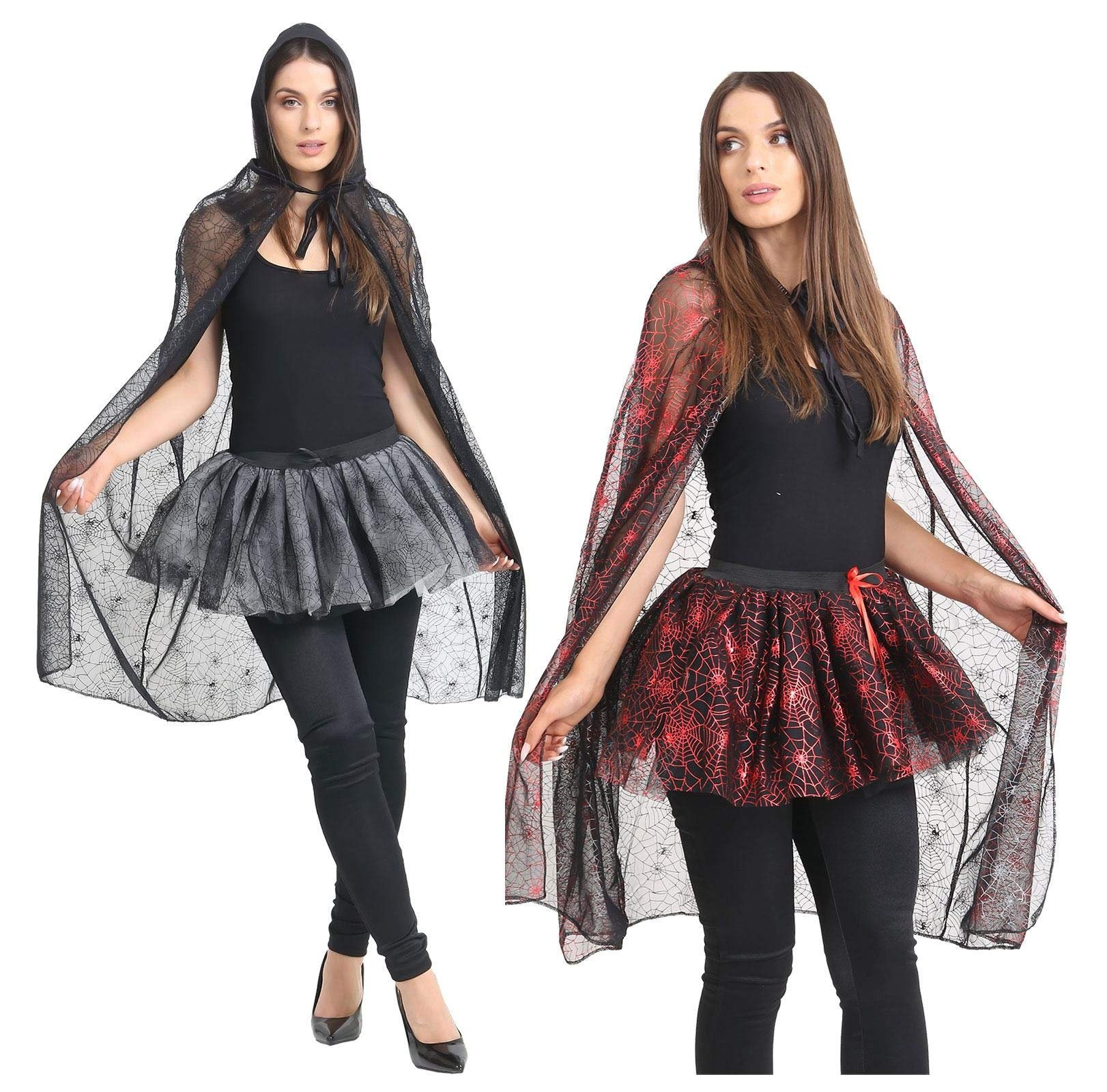 - 81b57XWxgFL - MA ONLINE Ladies Halloween Spider Web Costume Womens Night Out Fancy Dress Party Outfit
