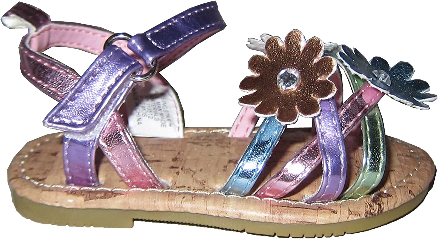 Infant Toddler Pastel Color Flower Straps Sandal