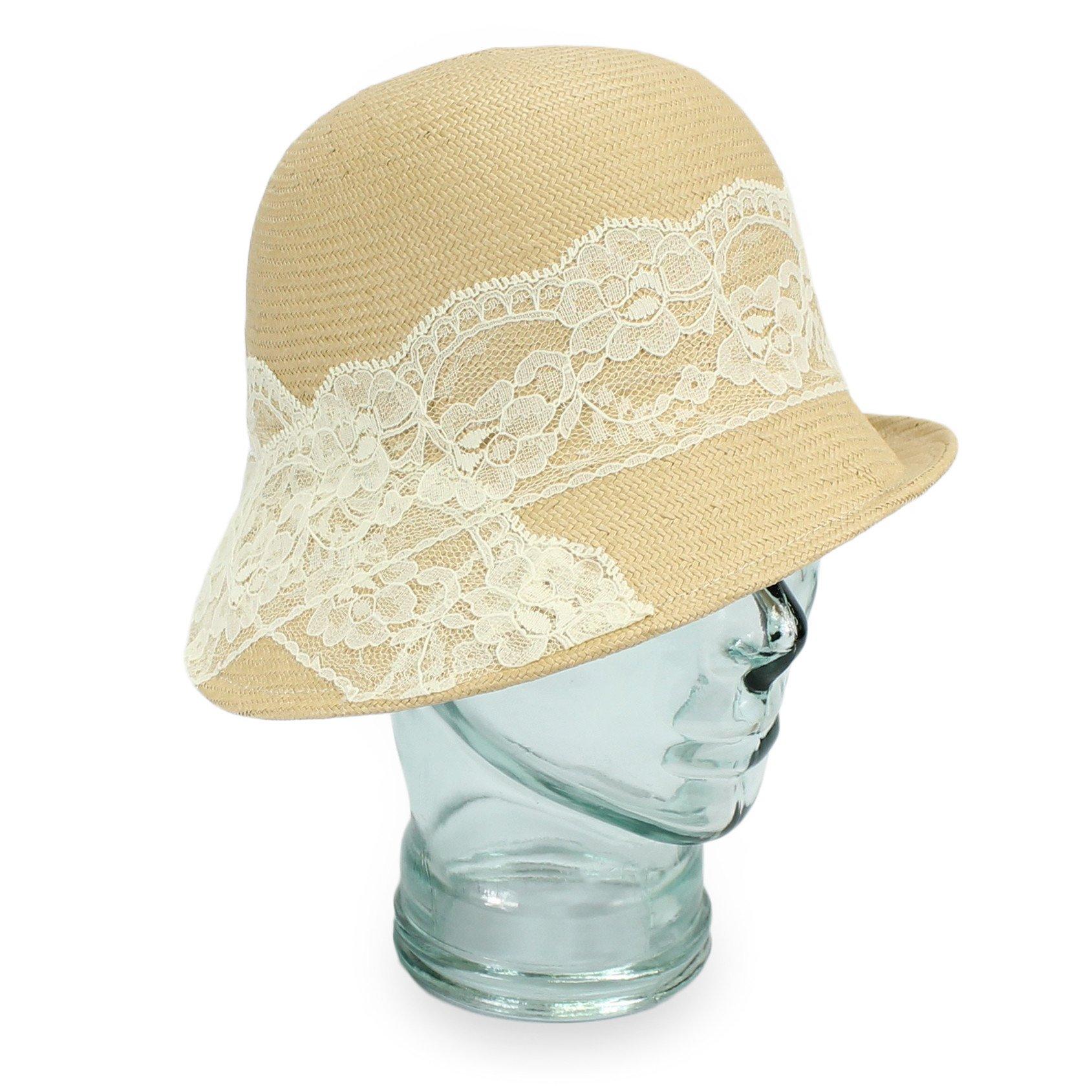 Hats in the Belfry Gemma - Finley Woven Toyo Straw Asymmetrical Cloche