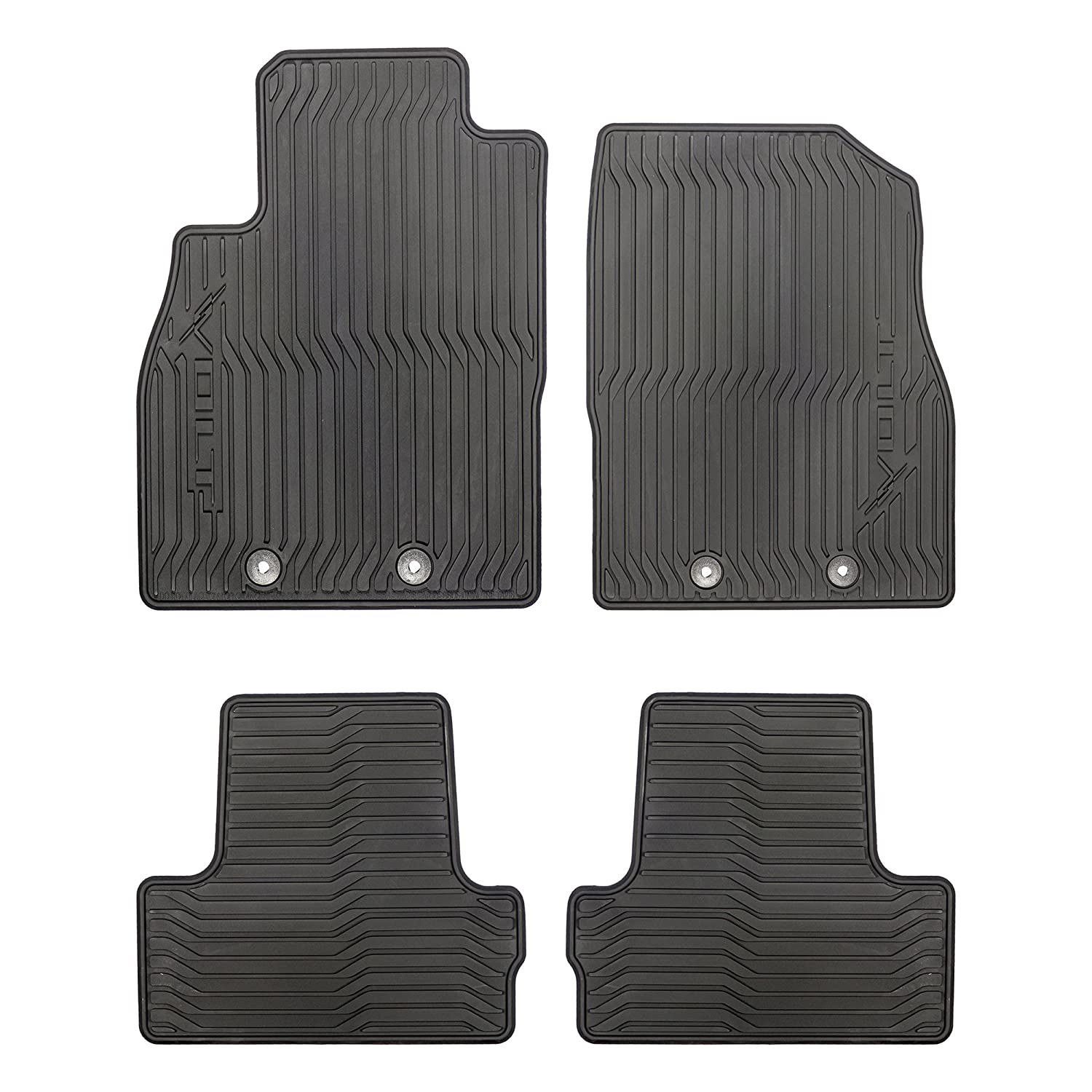 GM # 19243441 Floor Mats - Front and Rear Premium All Weather - Ebony with Volt Logo Chevrolet/GM