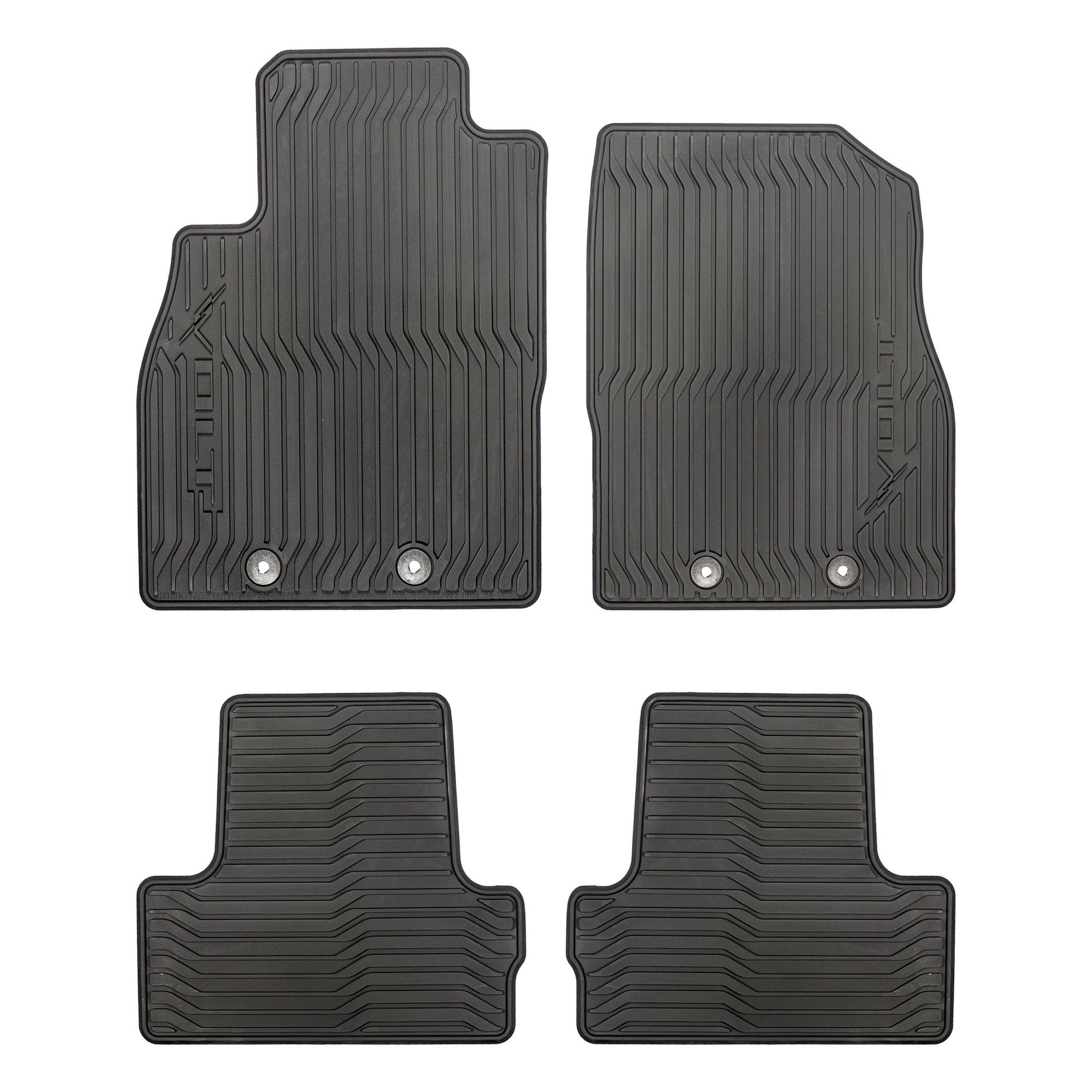 GM # 19243441 Floor Mats - Front and Rear Premium All Weather - Ebony with Volt Logo by Chevrolet (Image #1)