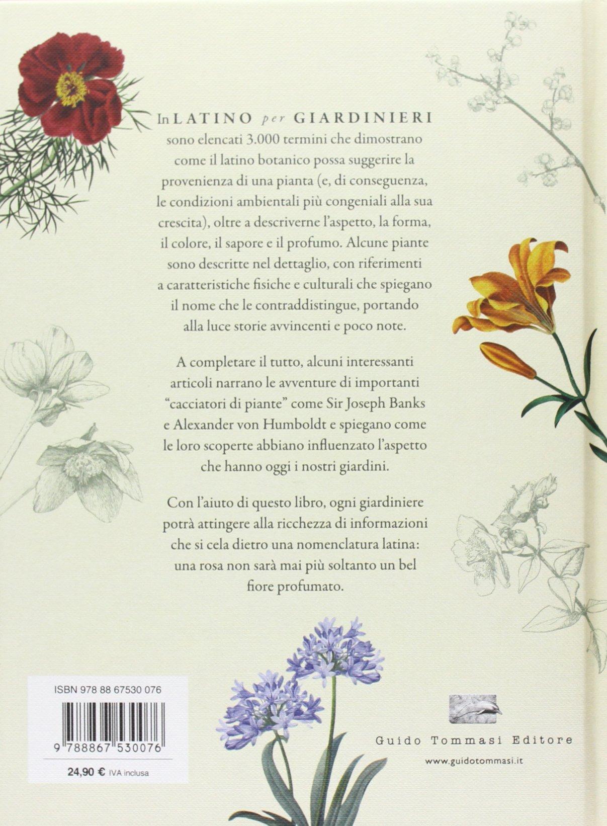 nomi di fiori in latino