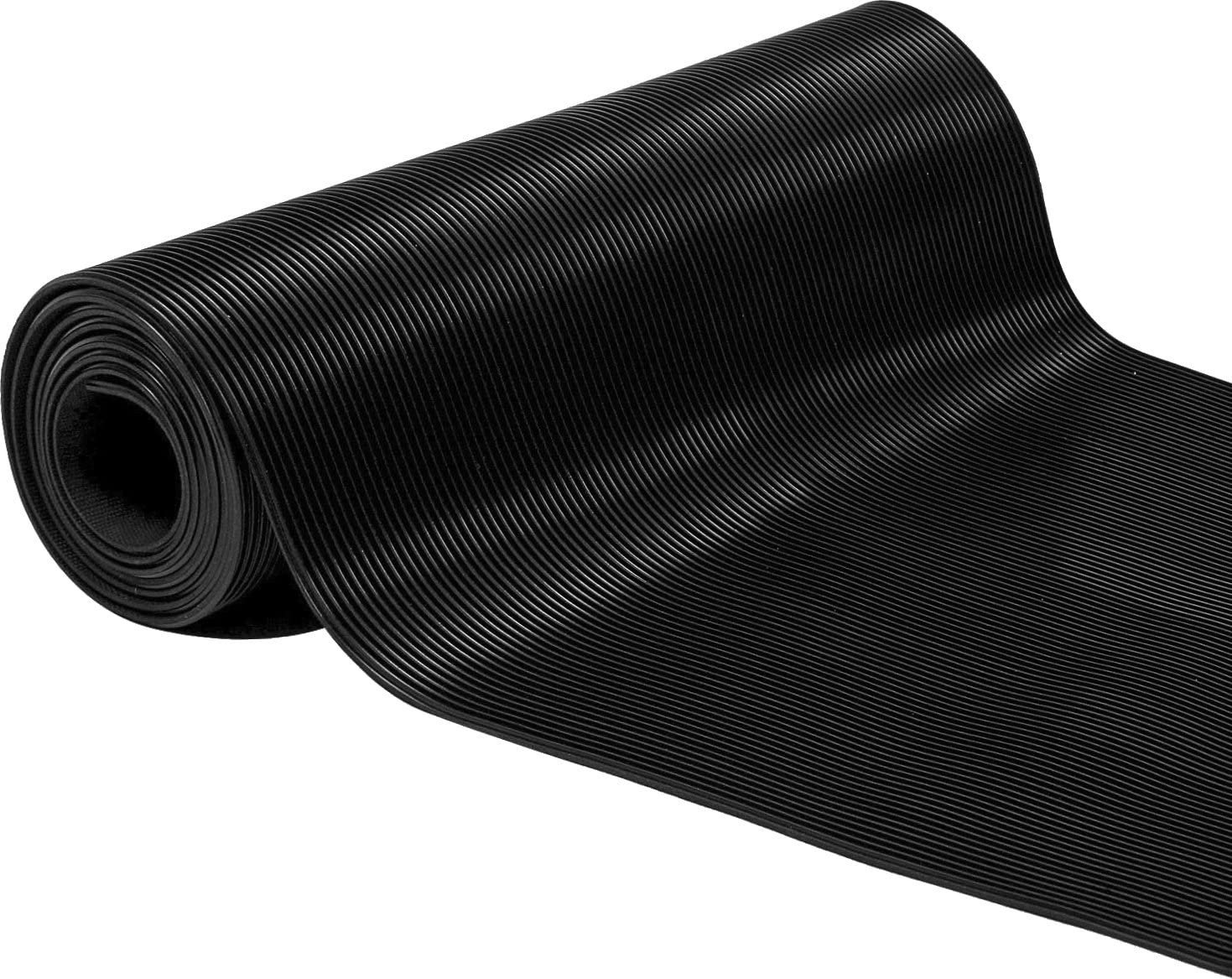 Herco 2 x 5 All Purpose 1 8 Corrugated Rubber Mat – Black