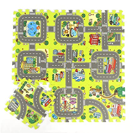 Amazon Com Belupai Road Rally Play Foam Floor Tiles For Kids 35