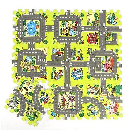 Amazon Com Belupai Road Rally Play Foam Floor Tiles For Kids 35