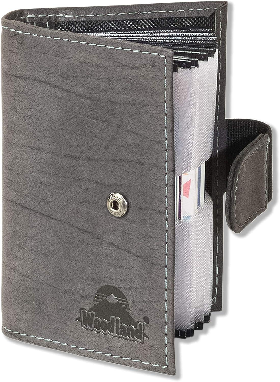 Rimbaldi® Leder Kreditkartenetui in Rot mit flexibler Außenlasche /& viel Platz