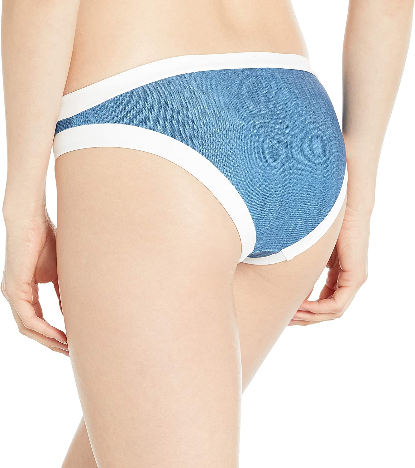 Seafolly Womens Block Party Hipster Full Coverage Bikini Bottom Swimsuit