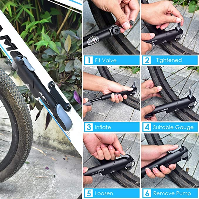 Mini portable bicycle pump basketball inflatable tube bicycle accessories BH