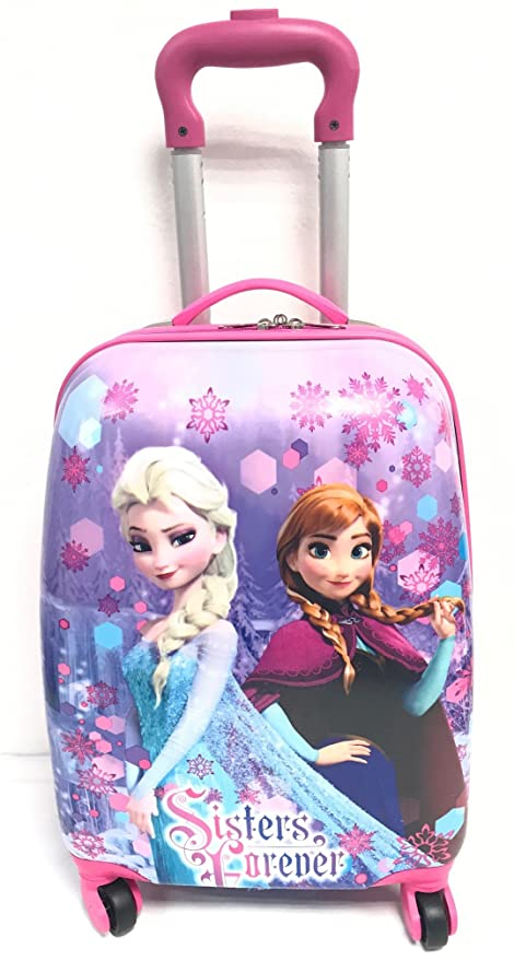 Disney Frozen Anna Elsa Kids Wheeled Trolley Bag School Travel Cabin Holiday Bag