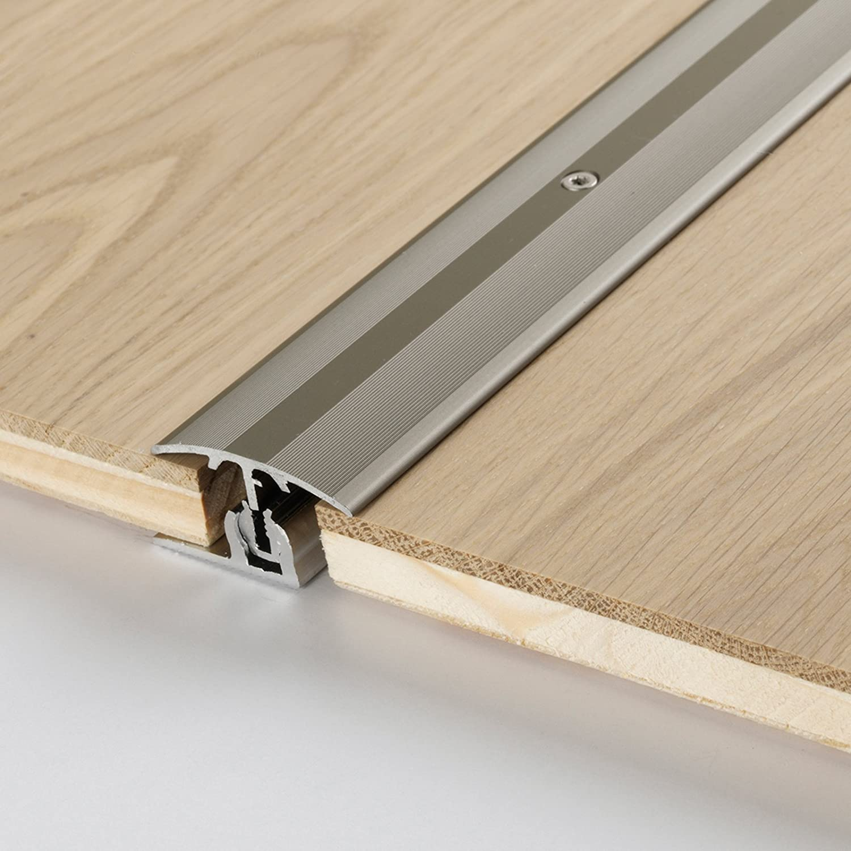 Parador Boden-Profile /Übergangsprofil Aluminium Edelstahl f/ür Parkett Bodenbel/äge 8-18 mm