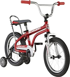 Schwinn Krate Evo Classic Kids Bike, 16-Inch Wheels, Boys and Girls Ages 3-5 Years, Removable Training Wheels, Coaster Brakes, Multiple Colors