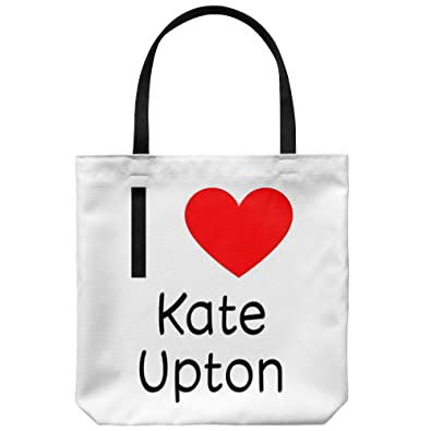 "3979194685e Amazon.com  I Love Kate Upton Tote Bag Carry Bag  18"" x 18"" Kate Upton  Merchandise Tote Bag Carry Bag For Fans Of Kate Upton!  Shoes"
