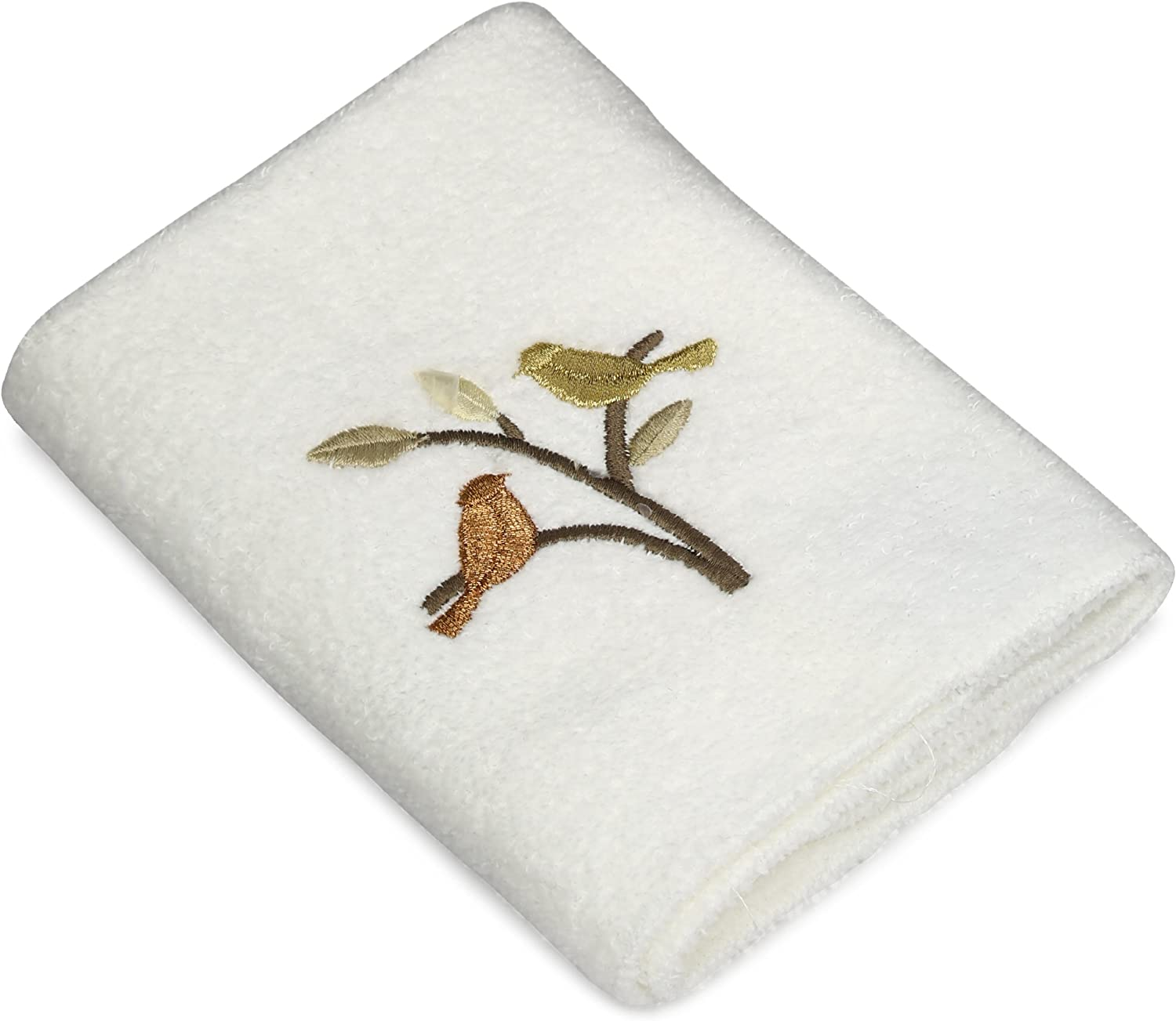 Avanti Linens Friendly Gathering Wash Cloth, White