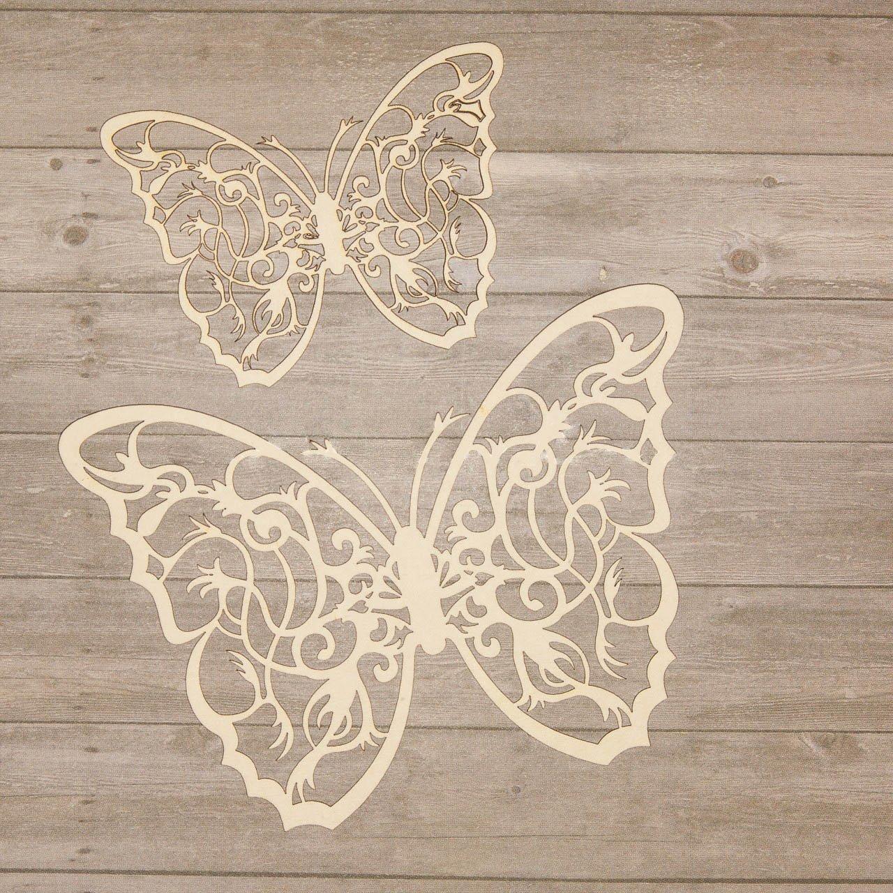 Chipboard - Schmetterlinge Wycinanka