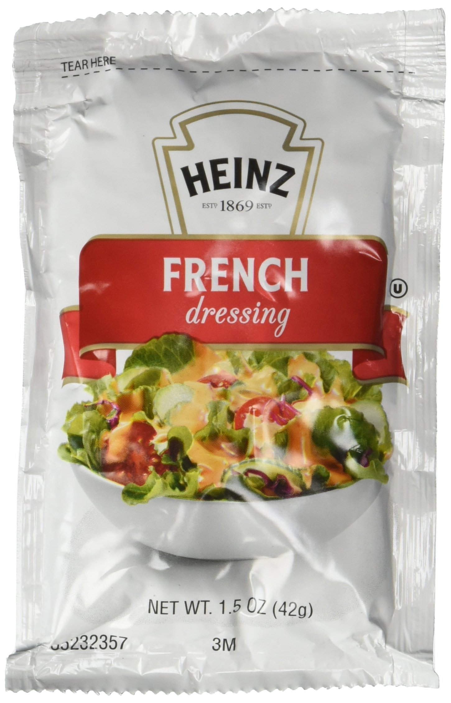 Heinz Dressing, Heart Healthy French, Fat Free, 1.5-Ounce Pouch (Pack of 60)