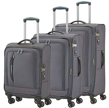 "Travelite Set de bagage ""Crosslite"" 4 pcs anthracite Juego maletas, 77 cm"