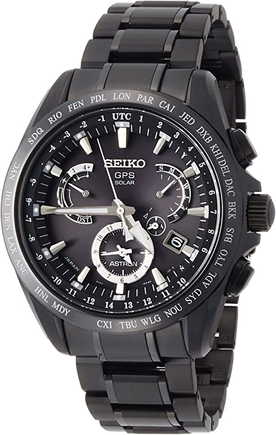 [セイコーウォッチ] 腕時計 アストロン GPSソーラー デュアルタイム SBXB049 メンズ ブラック