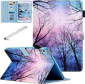 iPad Mini 5 Case Mini 4 Mini 3 2 Cover, FANCITY Smart Wake Sleep Flip Stand Case Soft PU Leather Protective Case with Card Slot Pen Holder for Apple iPad Mini 1 2 3 4 5 - Night Forest