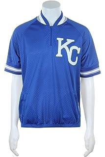 a2810dc36 Mitchell & Ness Kansas City Royals MLB Men's Authentic 1/4 Zip Batting  Practice Jacket