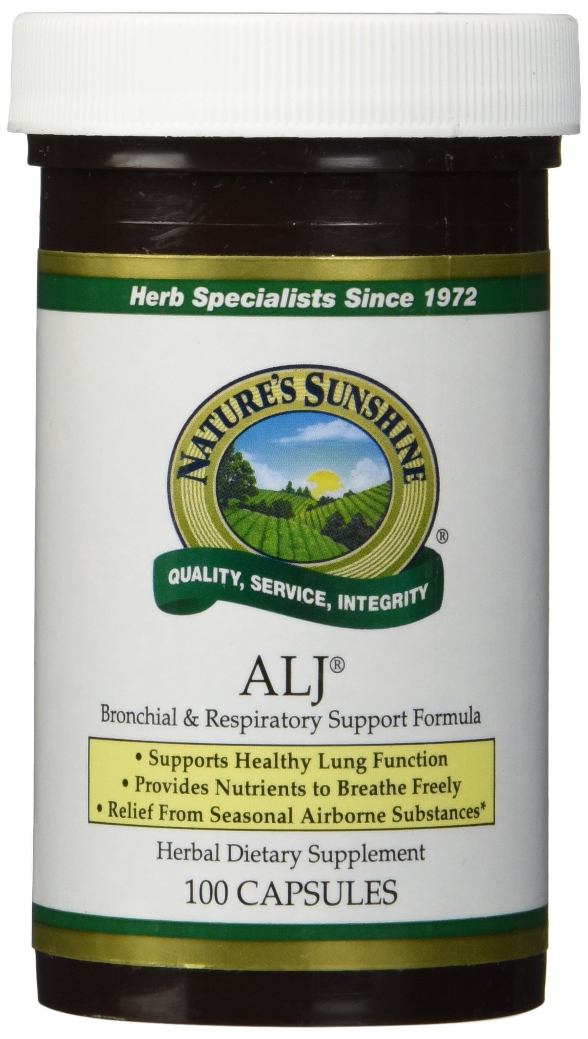 Nature's Sunshine ALJ, 100 Capsules   Herbal Respiratory Supplement Helps Support the Body During Seasonal Changes
