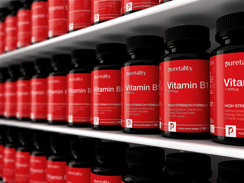 Vitamina B12 Metilcobalamina 1000 mcg 180 Comprimidos (Suministro para 6 Meses) - 100% GARANTÍA DE DEVOLUCIÓN DE DINERO - Comprimidos Sublinguales de Alta ...