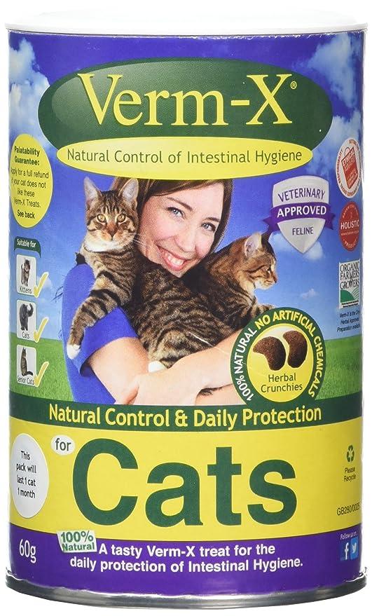 Verm-X - Golosinas para el cuidado intestinal de los gatos, ...