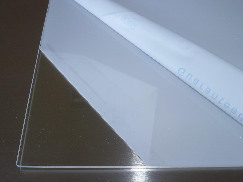 3,0 mm stark beidseitig foliert UV-best/ändig 200 x 400 mm Wunschma/ß Zuschnitt bis Gr/ö/ße 20 x 40 cm B/&T Metall Acrylglas PMMA XT Platte transparent