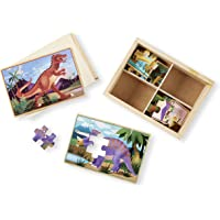 Melissa & Doug 3791 Dinosaurs 4-in-1 Wooden Jigsaw Puzzles in a Storage Box (48 pcs)