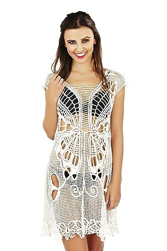 Boutique Mujer Ropa de Baño Traje de Baño Vestido Pareo Ganchillo Vestido Túnica