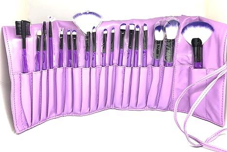 ba760dbd4 Set Profesional de Brochas para Maquillaje 18 piezas  (Negro,Dorado,Morado,Plata y Rosa) (Morado): Amazon.com.mx: Salud, Belleza  y Cuidado Personal