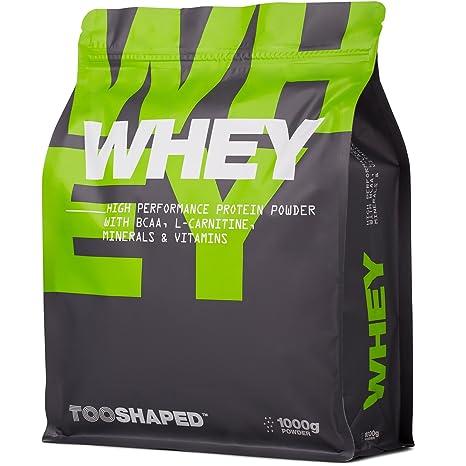 WHEY Protein Powder (chocolate), 1000 g, proteína en polvo de alto rendimiento para el crecimiento muscular con BCAA (nutrición) de TOOSHAPED: Amazon.es: ...