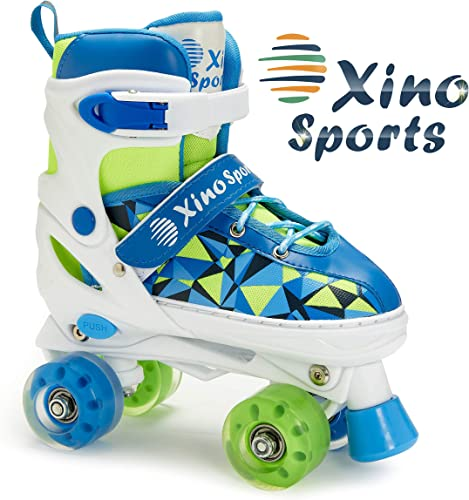 Xino Sports Adjustable Roller Skates for Children – Featuring PU Wheels, Awesome-Looking, Safe and Durable Roller Skates, Perfect for Boys and Girls
