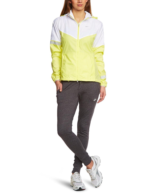 Nike Damen Laufjacke Vapor, yellowwhite, XS, 465557 734