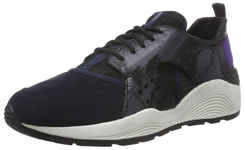 Geox D Omaya Plus a, Zapatillas para Mujer 39 EU|Blau (Navy/Blackc0045)
