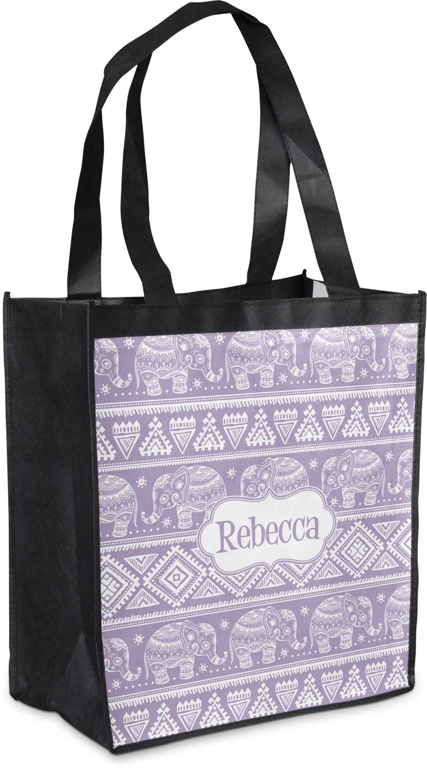 Baby Elephant Grocery Bag ( Personalized ) B0764T64YY
