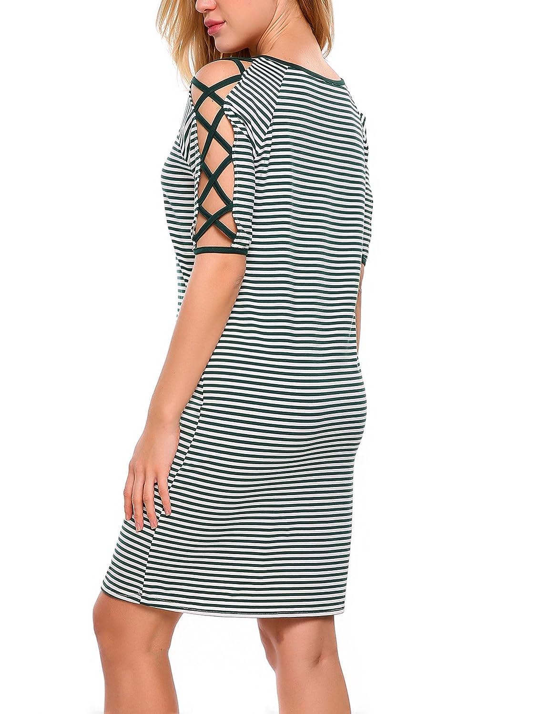 diversifiziert in der Verpackung verkauf usa online Bestbewertete Mode Streetwear Sportbekleidung Zeagoo Damen Sommerkleid Halbarm ...
