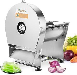 Newhai Electric Commercial Vegetable Shredder Machine 3mmX3mm Commercial Food Shredding Machine Fruit Shredder Stainless Steel for Potatoes Carrot Cabbage