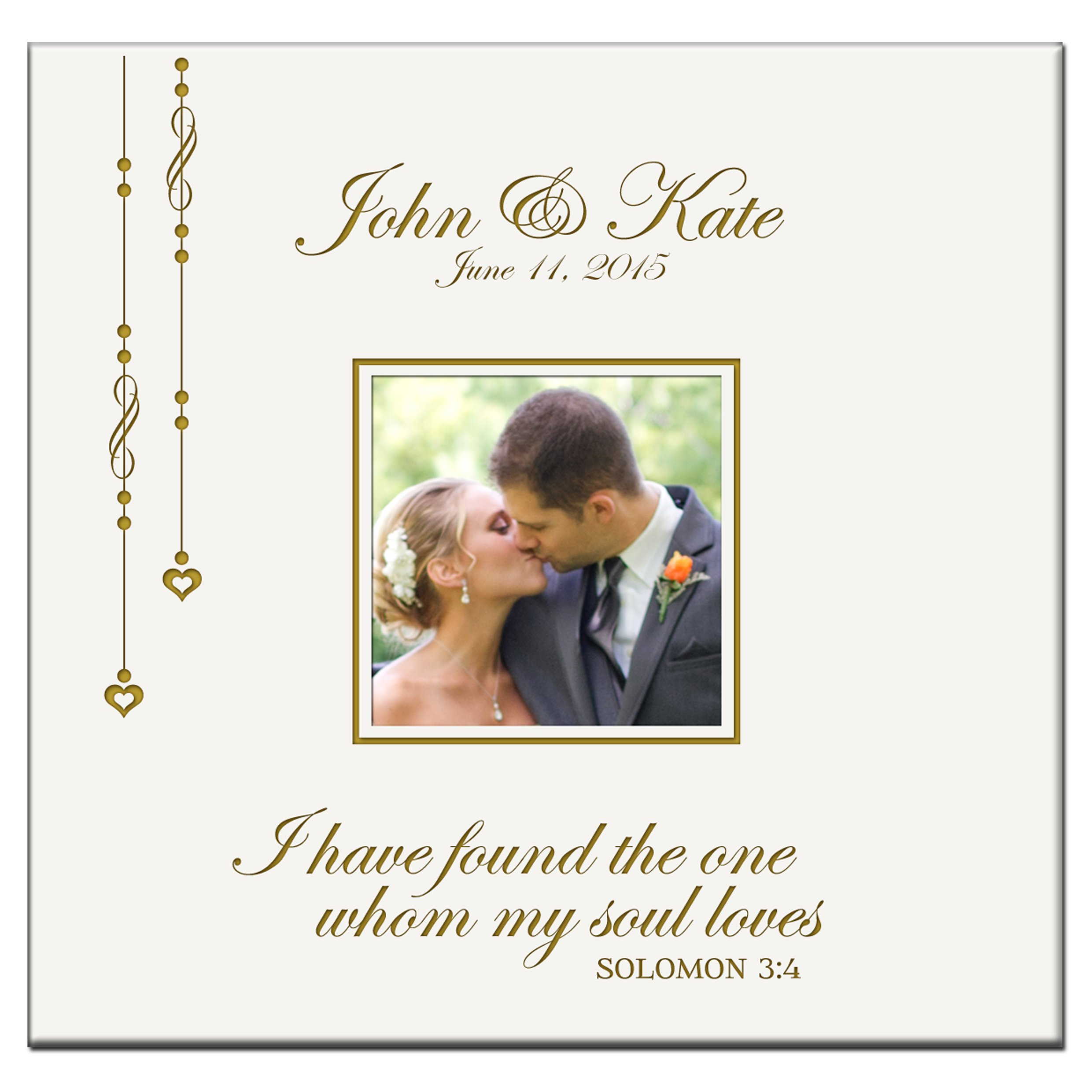 Personalized Wedding Photo Album Custom Engraved I Have Found the One Whom My Soul Loves Solomon 3:4 Photo Book Holds 200 4x6 Photos By LifeSong Milestones