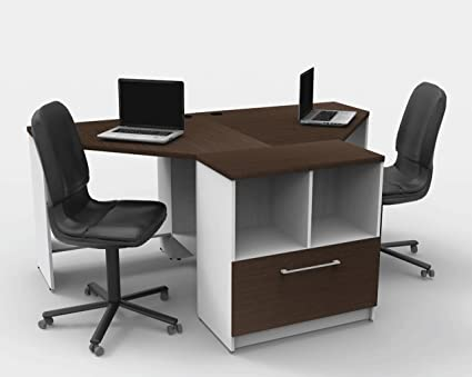 Contemporary office reception Counter Office Reception Desk Reception Corner Collaboration Furniture Model 4328 Pc Group Contemporary Whiteespresso Ihome Studio Amazoncom Office Reception Desk Reception Corner Collaboration
