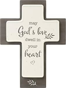 Precious Moments May God's Love Dwell in Your Heart Cross 191493, One Size, Multi